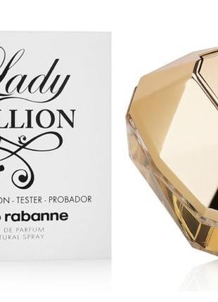 Paco rabanne lady million 80 ml тестер оригинал