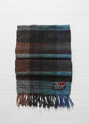 Теплый кашемировый шарф в клетку harrison's