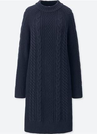 Вязаное платье юникло