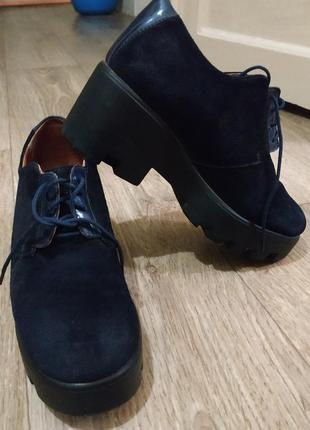Туфли in max натуральная замша 24 см стелька