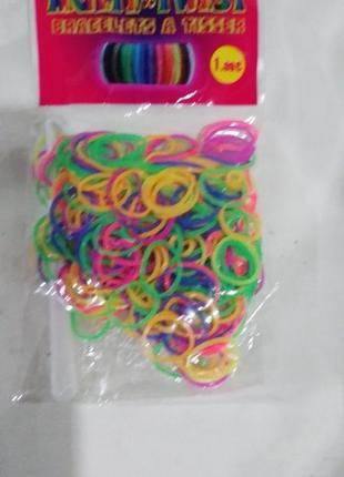 Резинки для плетения браслетов, цветные