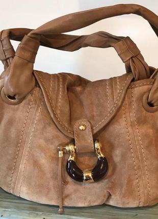 Кожаная сумка от модного дома jimmy choo 100% оригинал