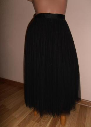 Нарядная юбка миди из фатина needle & thread