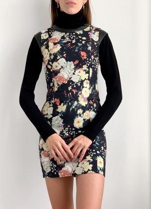 Мини платье в цветочный принт плаття міні mango