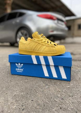 Кроссовки adidas superstar shanghai yellow жёлтые
