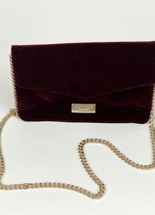 Клатч на цепочке{сумочка} jimmy choo parfums velvet purse