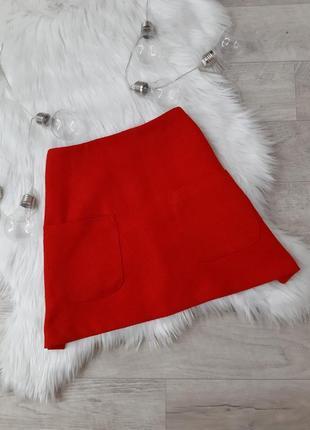 Красная юбка трапеция atmosphere