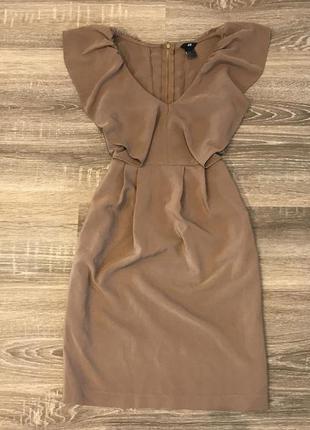 Плаття кольору camel від h&m
