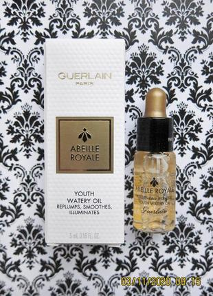 Антивозрастное масло сыворотка guerlain abeille royale youth watery oil 5 мл