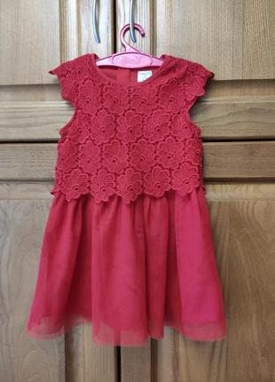 Нарядне червоне платтячко на дівчинку 2-3 р, платье