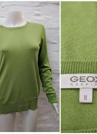 Geox respira яркий джемпер кашемир шёлк котон и пуговки на спине