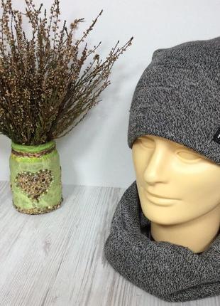 Теплий набір шапка і хомут