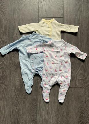 Набор детских боди для недоношених малышей