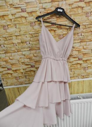 Платье сарафан воланы