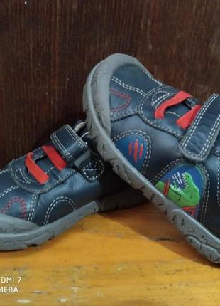 Кожаные кроссовки туфли clarks stompo