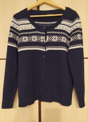 Зимний свитер кардиган