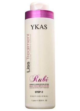 Ykas ruby кератин для выпрямления волос