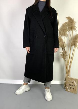 Пальто длинное бойфренд 100% кашемир произв.италия.