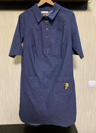 Коттоновое платье с перфорацией