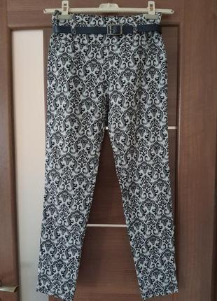 Штани,брюки до косточки стрейч,італія 46-48р,l