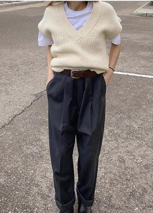 Базовые штаны, брюки с защипами zara