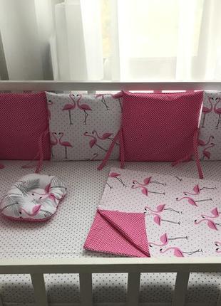 Бортики защита в кроватку постельное белье детское