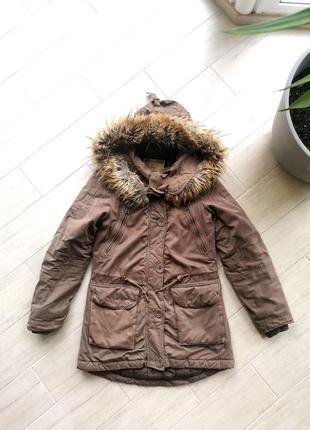 Парка зимова італія куртка з хутром garcia розмір s