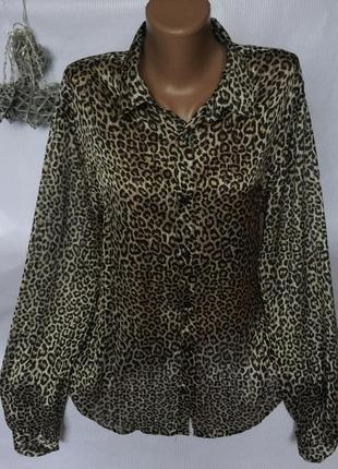 Крутая , роскошная рубашка тигра zara