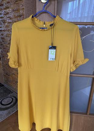 Плаття гірчичного кольору primark xs-s