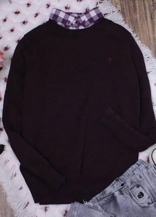 Стильный джемпер с рубашкой свитер с рубашкой