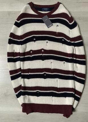 Подовжений новенький в'язаний светерок від pull&bear new!