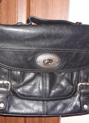 Супер удобная брендовая сумка fossil натуральная кожа