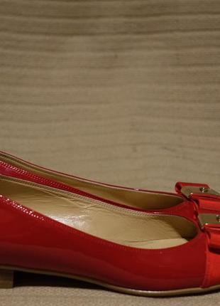 Чудесные лакированные кожаные балетки вишневого цвета russell & bromley англия 36 1/2 р.