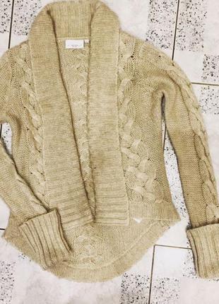Вязаная кофта new look ( зимний коричневый кардиган) xs -s