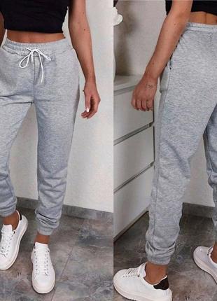 Теплые на флисе базовые спортивные штаны-джоггеры