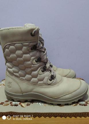 Кожаные ботинки timberland waterproof