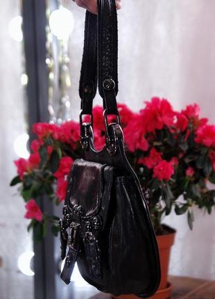 Брендовая натуральная кожаная классическая сумка клатч с короткими ручками