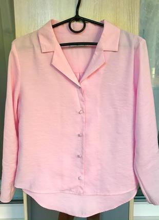 Легкая укороченная блуза-рубашка mango