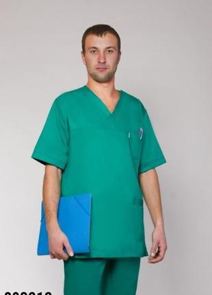Костюм медицинский, хирургический, коттон, р. 42-60; мужская медицинская одежда, 893212