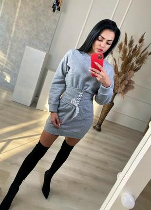 Короткое теплое платье!