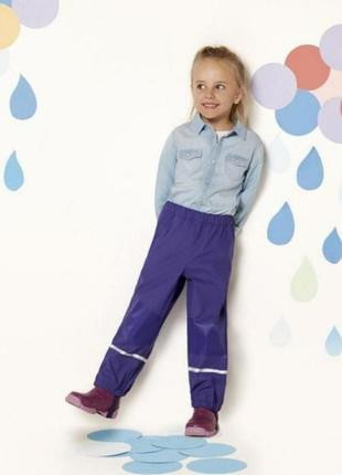 Тёплые штаны непромокайки на флисе lupilu 122-128
