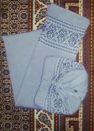 Комплект шапка + шарф
