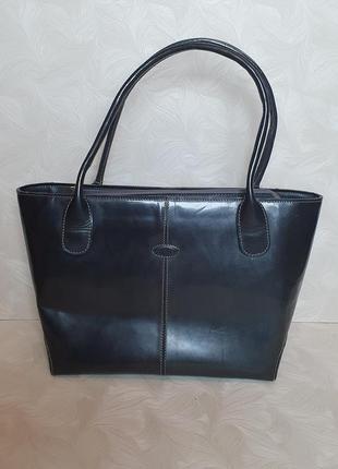 Деловая кожаная сумка tod's