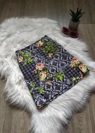Красивая цветастая юбочка по фигуре 💣