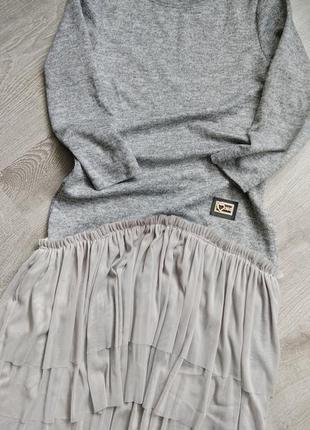 Теплое платье - туника