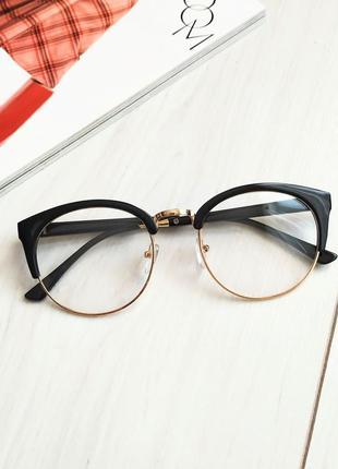 Очки имиджевые, очки для стиля лисички