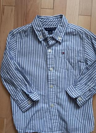 Стильная рубашка для мальчика 1-2 года tommy hilfiger