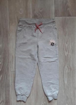 Серые спортивные брюки lupilu