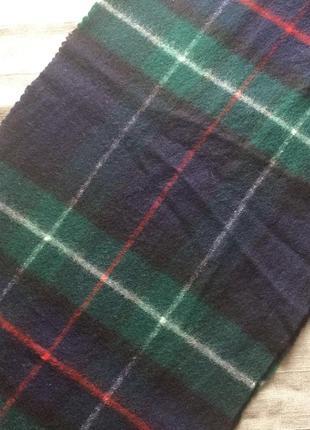 Классический шерстяной шарф в клетку, германия4 фото