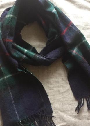 Классический шерстяной шарф в клетку, германия5 фото